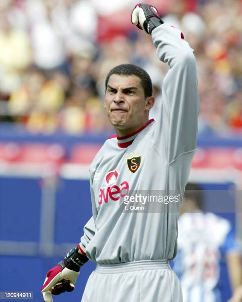 Aly Faryd Mondragon goalkeeper of Galatasaray shows his displeasure at the assistant referee's decision during the Championsworld Series between FC...