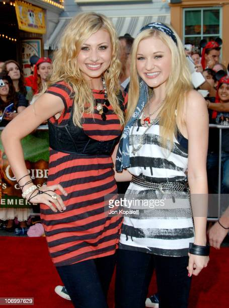Aly Michalka and AJ Michalka aka Aly AJ during Pirates of the Caribbean Dead Man's Chest Los Angeles Premiere Arrivals at Disneyland/Main Street in...
