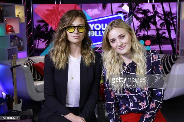 Aly Michalka and AJ Michalka at the Young Hollywood Studio on August 23 2017 in Los Angeles California