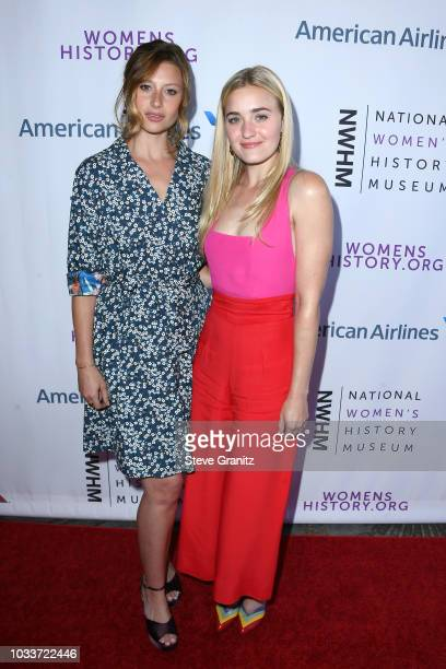 Aly Michalka and AJ Michalka attend National Women's History Museum's 7th Annual Women Making History Awards at The Beverly Hilton Hotel on September...