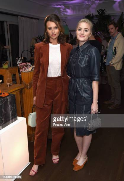 Aly Michalka and AJ Michalka attend the BY FAR Party hosted by HAIM and Maya Rudolph at Chateau Marmont on December 4 2018 in Los Angeles California
