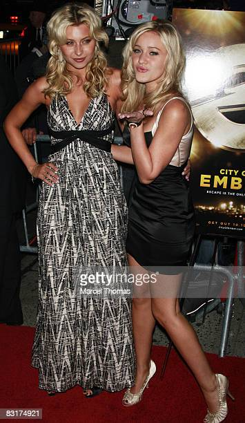 Aly Michalka and AJ Michalka attend the premiere of the movie City of Ember at AMC Loews 19th Street theater on October 7 2008 in New York City