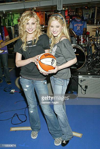 Aly Michalka and AJ Michalka during Aly AJ Perform at the NBA Store at NBA Store in New York New York United States