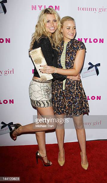 Aly Michalka and Amanda Michalka arrive at NYLON Magazine Annual May Young Hollywood issue celebration held at Hollywood Roosevelt Hotel on May 9...