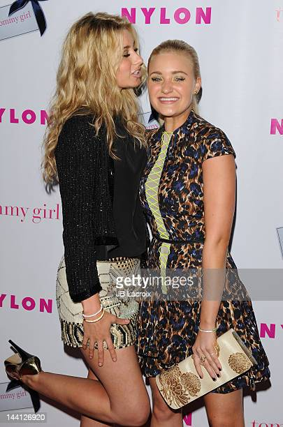 Aly Michalka and Amanda Michalka of Aly Aj attend the NYLON Magazine Annual May Young Hollywood Issue Celebration held at Hollywood Roosevelt Hotel...