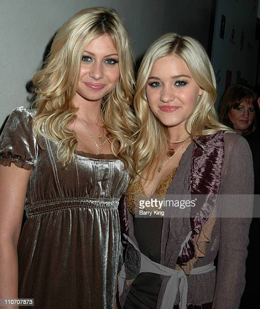 Aly Michalka and Amanda Michalka of Aly AJ during Aaron Carter and Angel Carter's 19th Birthday Party at Shag in Hollywood at Shag in Hollywood CA...