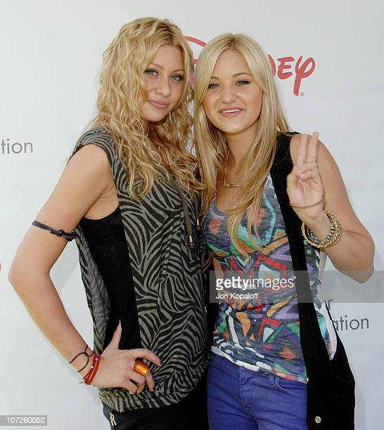 Aly Michalka and sister AJ Michalka during A Time For Heroes Sponsored by Disney to Benefit the Elizabeth Glaser Pediatric AIDS Foundation Arrivals...