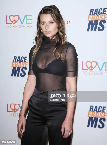 Aly Michalka arrives to the 25th Annual Race To Erase MS Gala held at The Beverly Hilton Hotel on April 20 2018 in Beverly Hills California