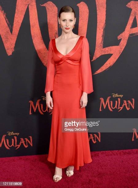 "Aly Michalka attends the Premiere Of Disney's ""Mulan"" on March 09, 2020 in Hollywood, California."