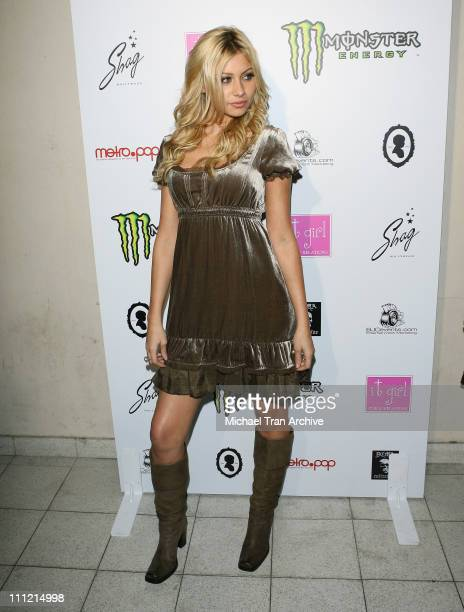 Aly Michalka during Aaron Angel Carter's Birthday Party December 15 2006 at SHAG Nightclub in Hollywood California United States