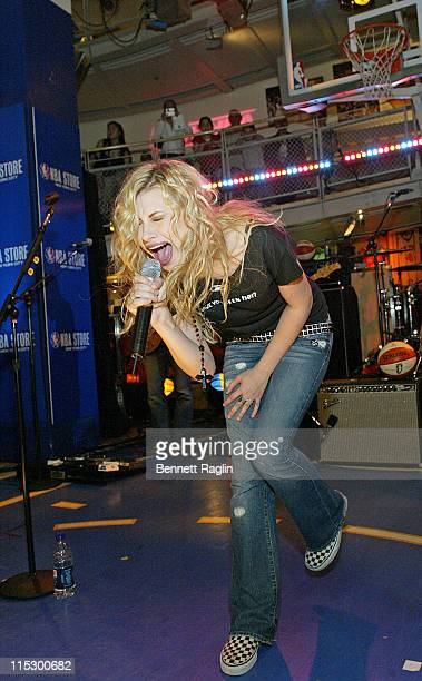 Aly Michalka during Aly AJ Perform at the NBA Store at NBA Store in New York New York United States