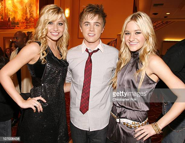 Aly Michalka Jesse McCartney and AJ Michalka during Hollywood Christmas Celebration From The Grove Backstage at The Grove in Los Angeles California...