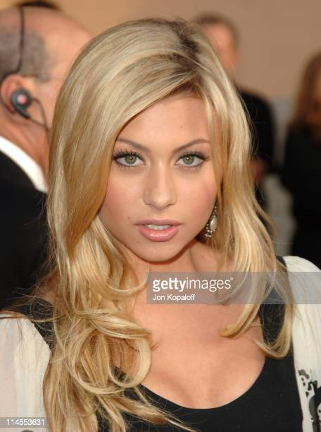 Aly Michalka of Aly AJ during 2006 American Music Awards Arrivals at Shrine Auditorium in Los Angeles California United States