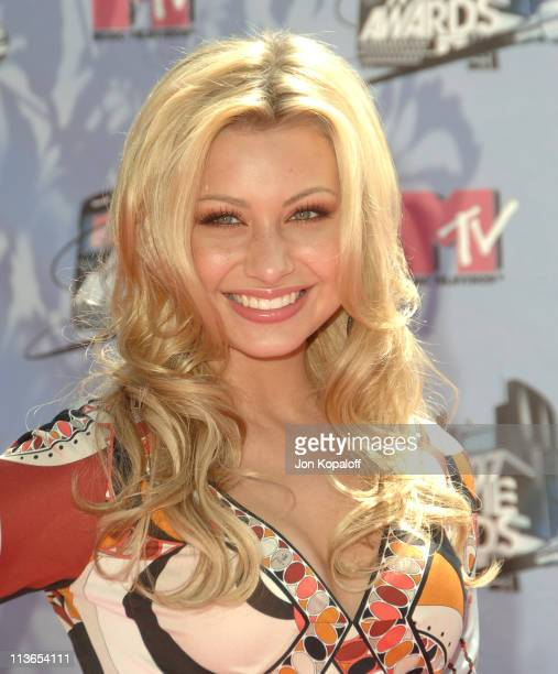 Aly Michalka of Aly AJ during 2007 MTV Movie Awards Arrivals at Gibson Amphitheater in Los Angeles California United States