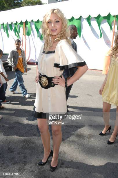 Aly Michalka of Aly AJ during Nickelodeon's 20th Annual Kids' Choice Awards Orange Carpet at Pauley Pavilion UCLA in Westwood California United States
