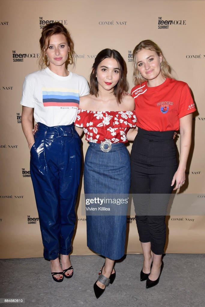 Aly Michalka, Rowan Blanchard, and AJ Michalka attend The Teen Vogue Summit