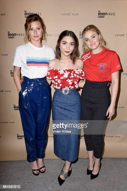 Aly Michalka Rowan Blanchard and AJ Michalka attend The Teen Vogue Summit LA Keynote Conversation with A Wrinkle In Time director Ava Duvernay and...