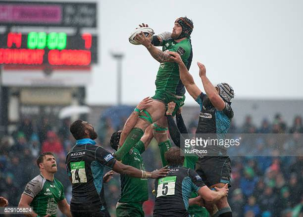 Aly Muldowney of Connacht catches the during the Guinness PRO12 rugby match between Connacht Rugby and Glasgow Warriors at the Sportsground in...