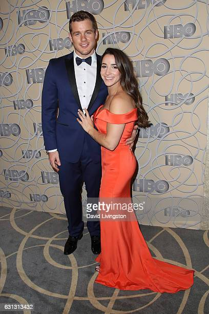 Aly Raisman and Colton Underwood arrive at HBO's Official Golden Globe Awards after party at the Circa 55 Restaurant on January 8 2017 in Los Angeles...