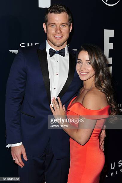 Aly Raisman and Colton Underwood arrive at NBCUniversal's 74th Annual Golden Globes After Party at The Beverly Hilton Hotel on January 8 2017 in...