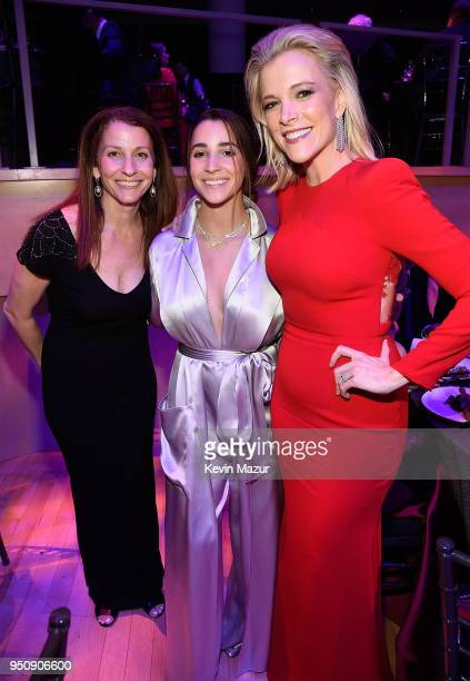 Aly Raisman and Megyn Kelly attend the 2018 Time 100 Gala at Jazz at Lincoln Center on April 24 2018 in New York CityÊ