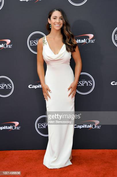 Aly Raisman attends The 2018 ESPYS at Microsoft Theater on July 18 2018 in Los Angeles California