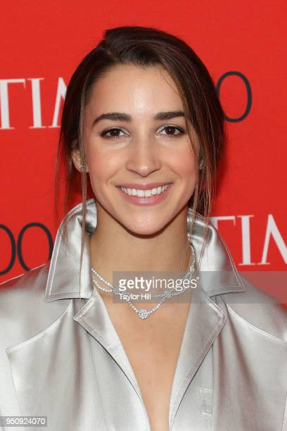 Aly Raisman attends the 2018 Time 100 Gala at Frederick P Rose Hall Jazz at Lincoln Center on April 24 2018 in New York City
