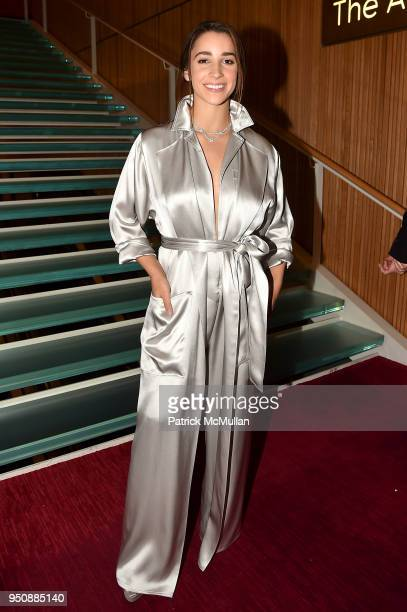 Aly Raisman attends the 2018 TIME 100 Gala at Jazz at Lincoln Center on April 24 2018 in New York City