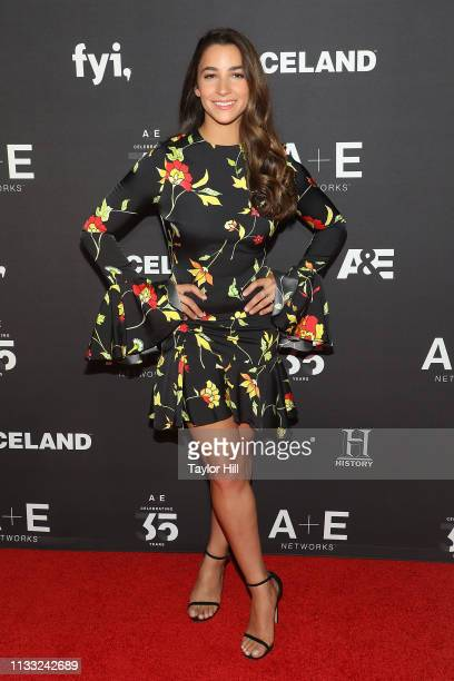 Aly Raisman attends the 2019 AE Upfront at Jazz at Lincoln Center on March 27 2019 in New York City