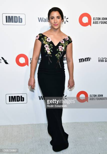 Aly Raisman attends the 28th Annual Elton John AIDS Foundation Academy Awards Viewing Party Sponsored By IMDb And Neuro Drinks on February 09, 2020...