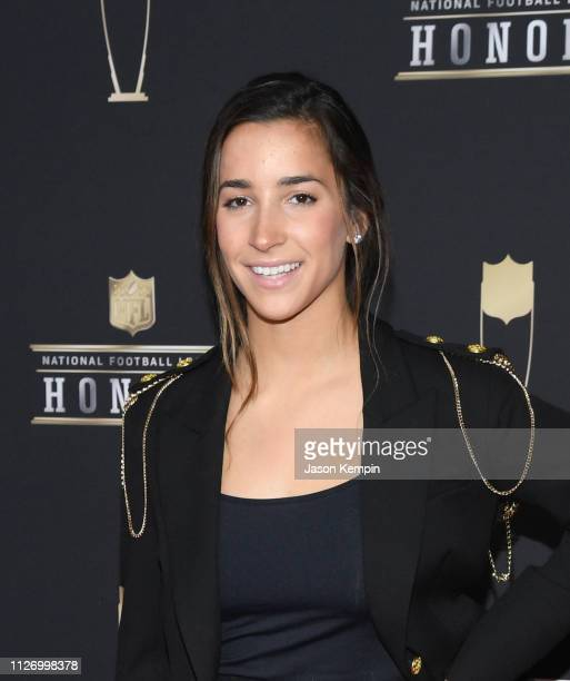 Aly Raisman attends the 8th Annual NFL Honors at The Fox Theatre on February 02 2019 in Atlanta Georgia