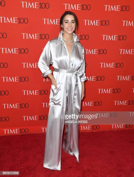 Aly Raisman attends the TIME 100 Gala celebrating its annual list of the 100 Most Influential People In The World at Frederick P Rose Hall Jazz at...