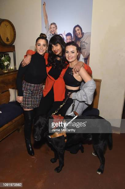 Aly Raisman Jameela Jamil and Molly Burke attend as Aerie celebrates #AerieREAL Role Models in NYC on January 31 2019 in New York City