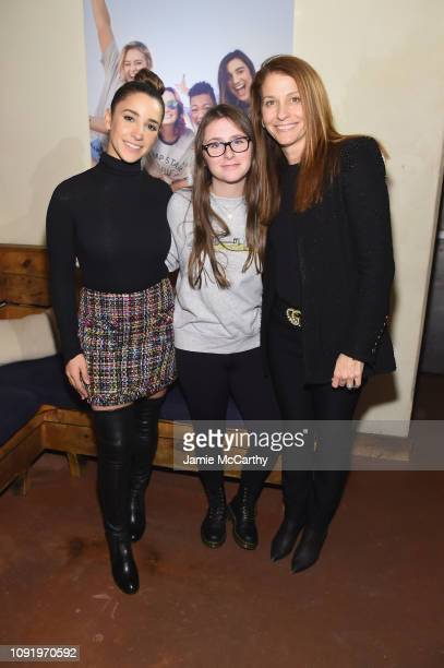 Aly Raisman Maddie Raisman and Lynn Raisman attend as Aerie celebrates #AerieREAL Role Models in NYC on January 31 2019 in New York City