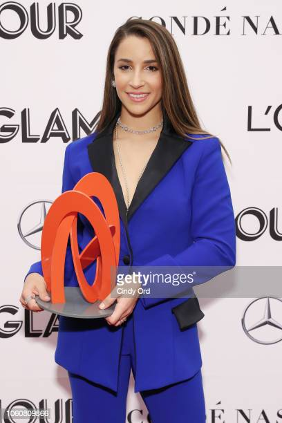 Aly Raisman poses backstage at the 2018 Glamour Women Of The Year Awards Women Rise on November 12 2018 in New York City
