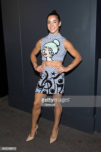 Aly Raisman poses during New York Fashion Week The Shows at Skylight at Moynihan Station on September 12 2016 in New York City