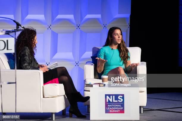 Aly Raisman World Champion gymnast and activist at the AntiDefamation League National Leadership Summit in Washington DC