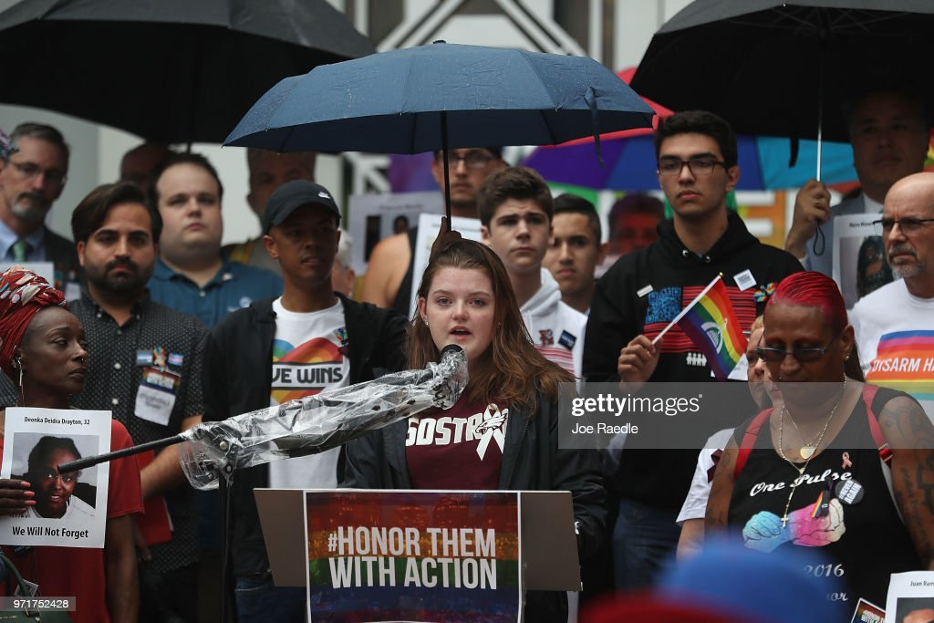 Pulse And Parkland Shooting Survivors Rally In Orlando Against Gun Violence : News Photo