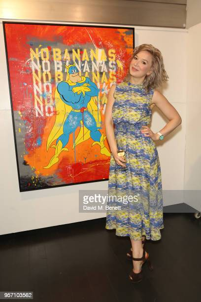 Alya Kepa attends Once Upon A Time by contemporary Irish street artist Robyn Ward on May 10 2018 in London England