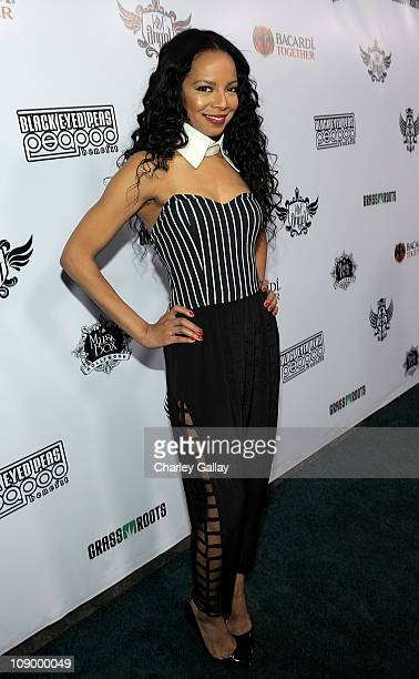 Alycia Bellamy attends Bacardi presents The Black Eyed Peas Peapod Benefit at The Music Box on February 10 2011 in Hollywood California