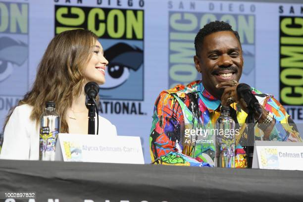 Alycia DebnamCarey and Colman Domingo attend the 'Fear the Walking Dead' panel with AMC during ComicCon International 2018 at San Diego Convention...