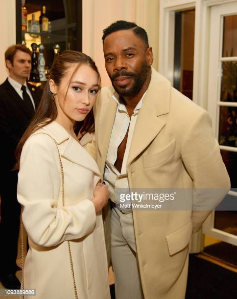 Alycia DebnamCarey and Colman Domingo attend The Hollywood Reporter's 7th Annual Nominees Night presented by MercedesBenz Century Plaza Residences...