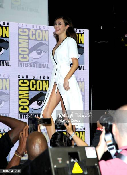 Alycia DebnamCarey attends AMC's 'Fear The Walking Dead' panel during ComicCon International 2018 at San Diego Convention Center on July 20 2018 in...