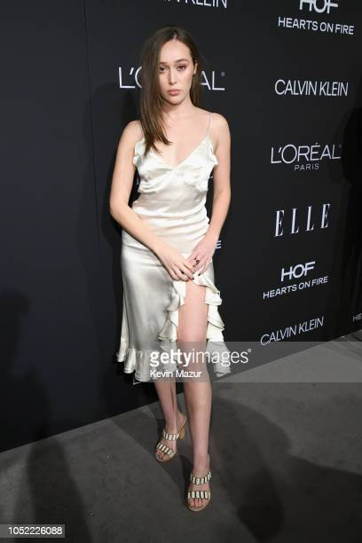 Alycia DebnamCarey attends ELLE's 25th Annual Women In Hollywood Celebration presented by L'Oreal Paris Hearts On Fire and CALVIN KLEIN at Four...