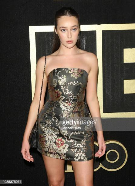 Alycia DebnamCarey attends HBO's Post Emmy Awards reception held at The Plaza at the Pacific Design Center on September 17 2018 in Los Angeles...