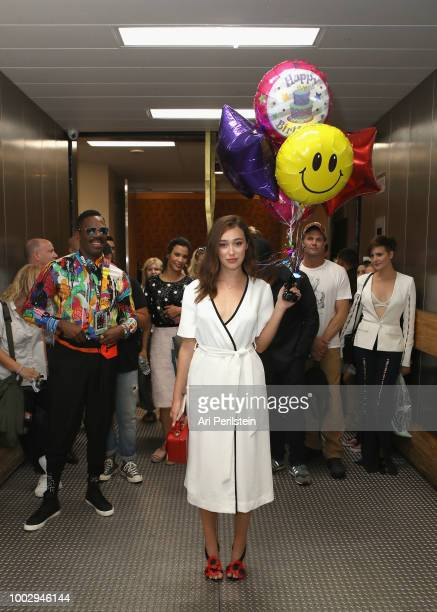 Alycia DebnamCarey attends the 'Fear the Walking Dead' autograph signing with AMC during ComicCon International 2018 at San Diego Convention Center...