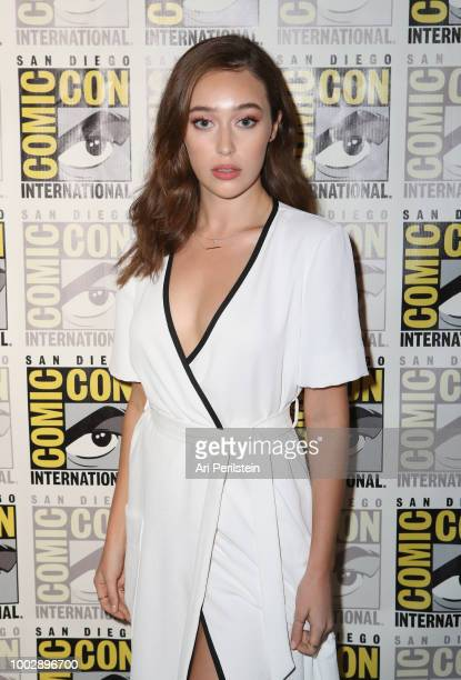 Alycia DebnamCarey attends the 'Fear the Walking Dead' panel with AMC during ComicCon International 2018 at San Diego Convention Center on July 20...