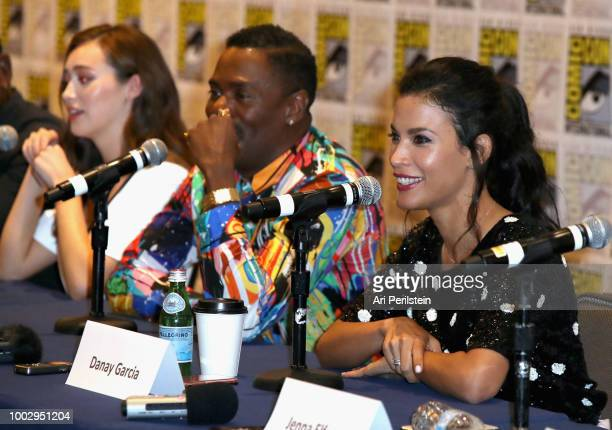 Alycia DebnamCarey Colman Domingo and Danay Garcia attend the 'Fear the Walking Dead' autograph signing with AMC during ComicCon International 2018...