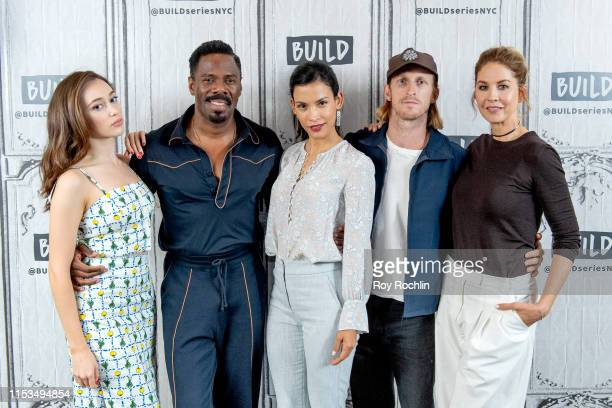 Alycia DebnamCarey Colman Domingo Danay Garcia Austin Amelio Jenna Elfman discuss season 5 of Fear The Walking Dead with the Build Series at Build...