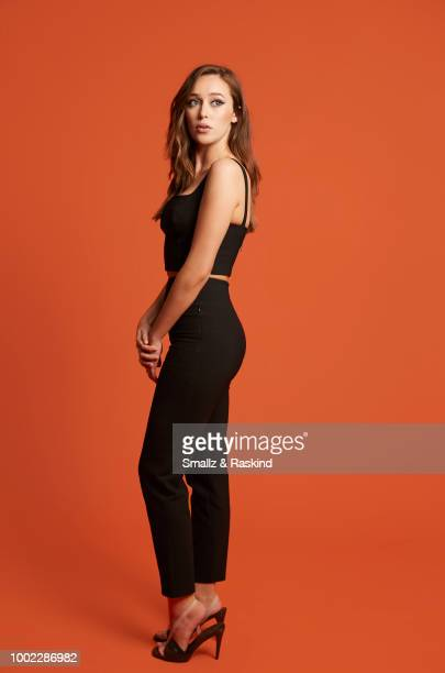 Alycia DebnamCarey from AMC's 'Fear the Walking Dead' poses for a portrait in the Getty Images Portrait Studio powered by Pizza Hut at San Diego 2018...